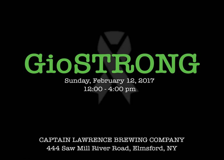 giostrong, sunday, february 12 at captain lawrence