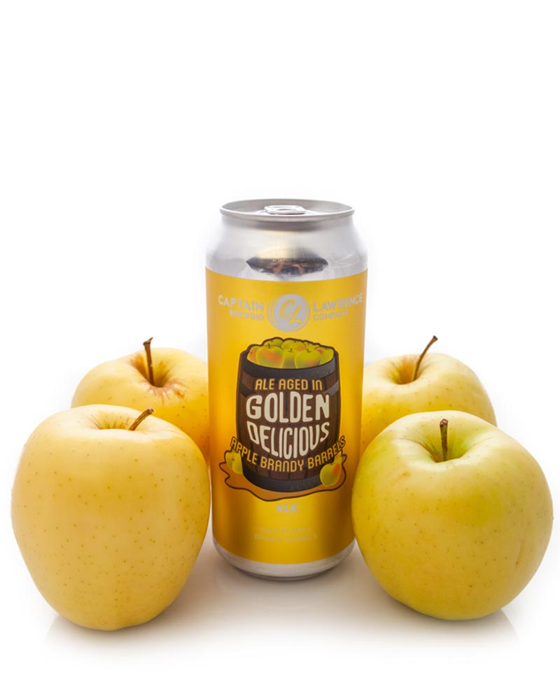 golden delicious can with apples