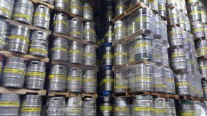 kegs packaged in the brewery
