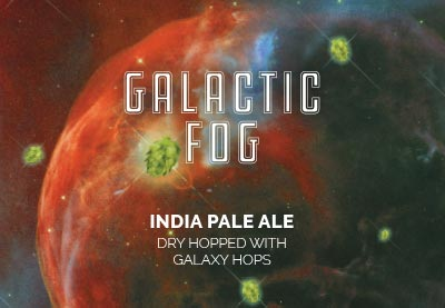 galactic fog beer label