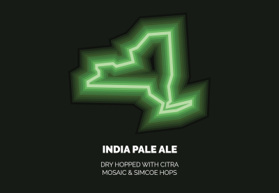 New York I.P.A. - Dry hopped with Citra, Mosaic, and Simcoe hops