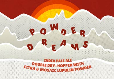 powder dreams double dry hopped with citra and mosaic lupulin powder
