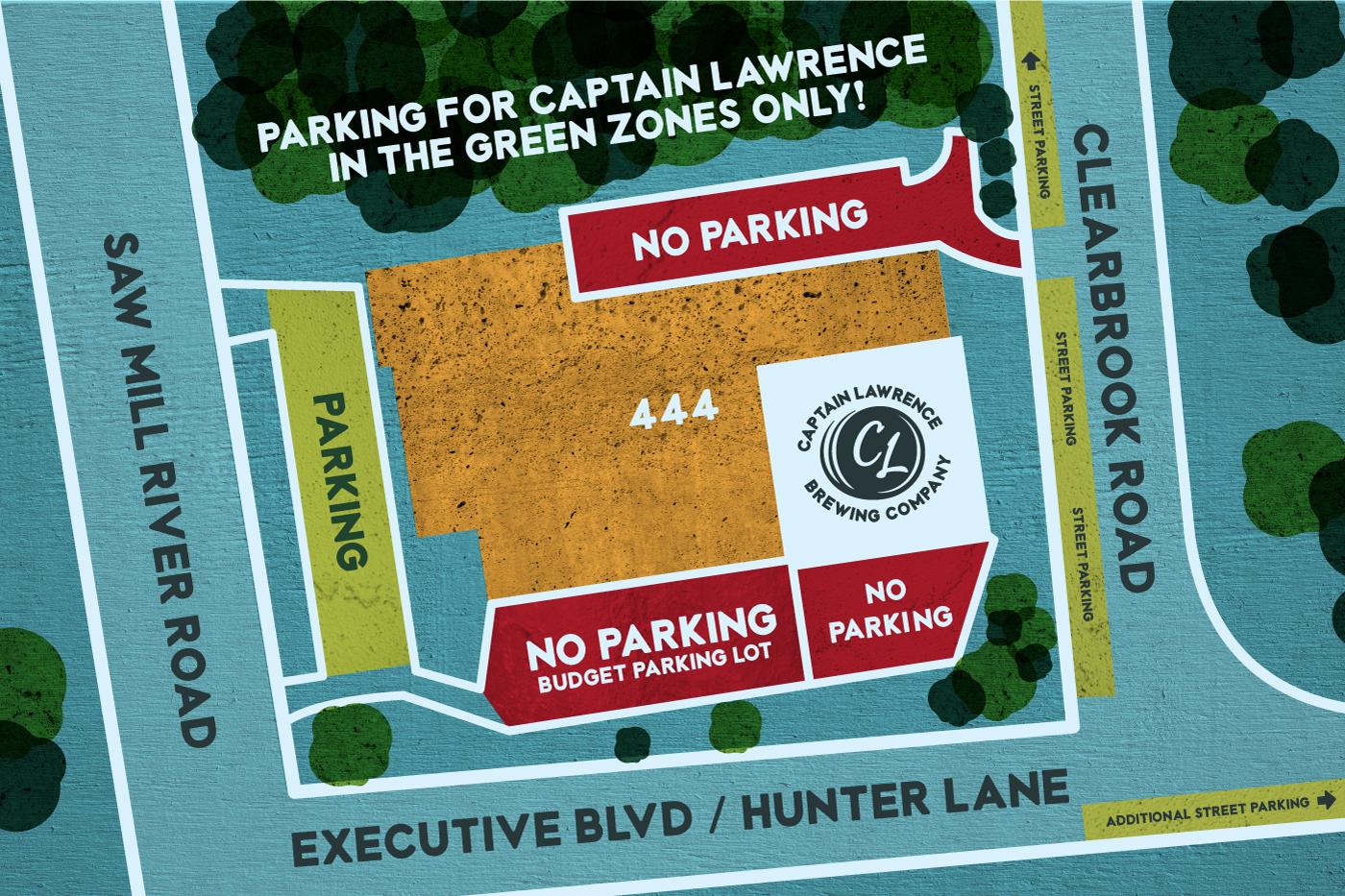 Captain Lawrence Parking map