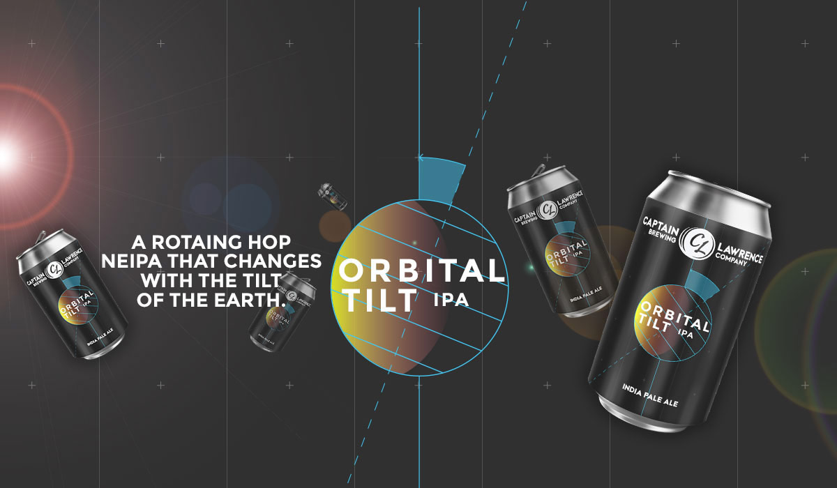Orbital Tilt I.P.A. - A rotating hop NEIPA that changes with the tilt of the earth