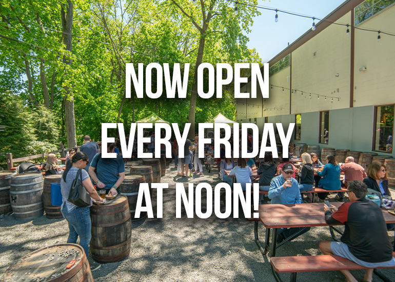 Now Open Every Friday at Noon