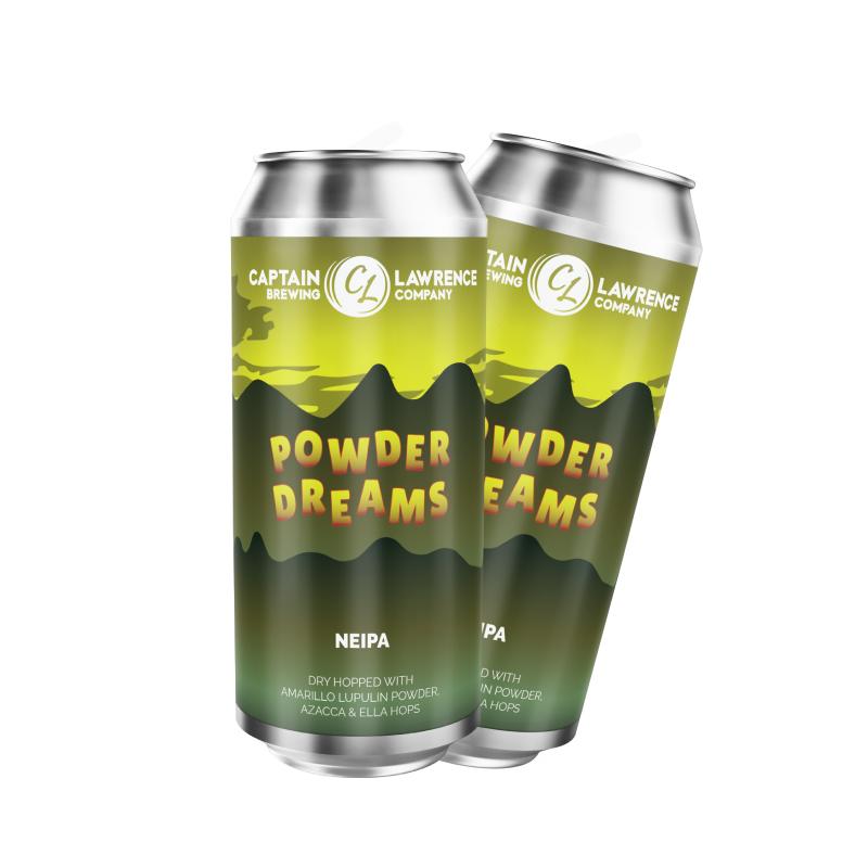 Powder Dreams dry hopped with Amarillo Lupulin Powder, Azacca Hops, and Ella Hops