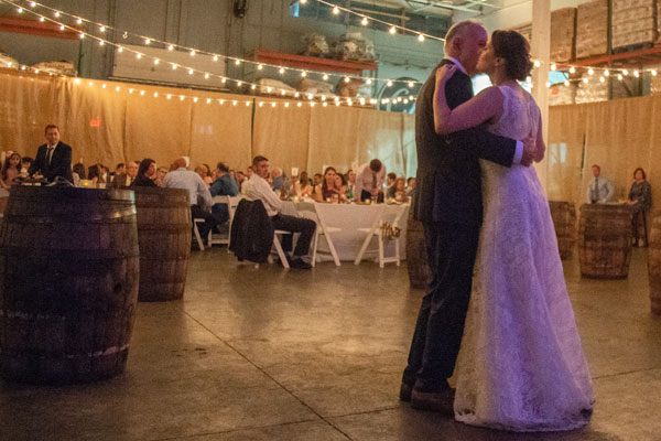 First dance between the bride and her father