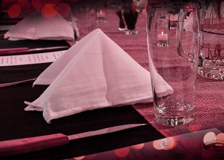 Valentine's Day Beer Dinner table setting