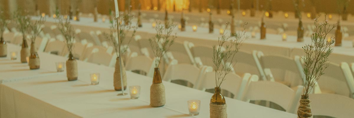 Table setting for private event