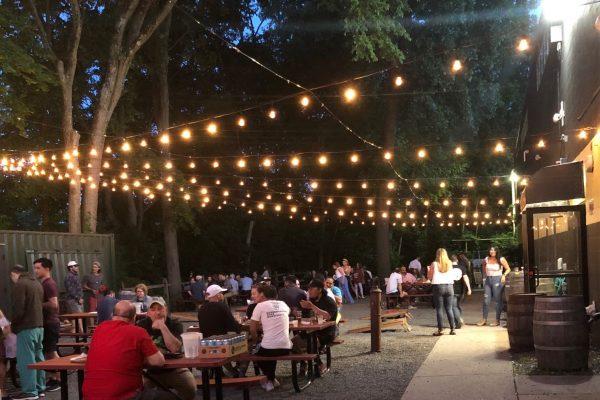beer garden crowd